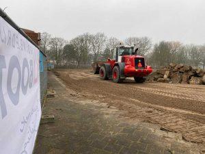 Foto 1 start werkzaamheden sportcomplex